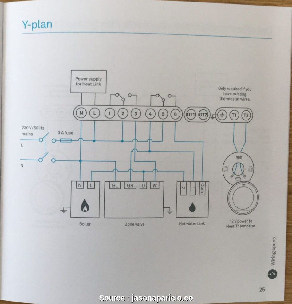 4 Wire Thermostat Wiring Diagram Nest Practical Wiring Diagram, Nest - Nest Wiring Diagram For Heat Pump