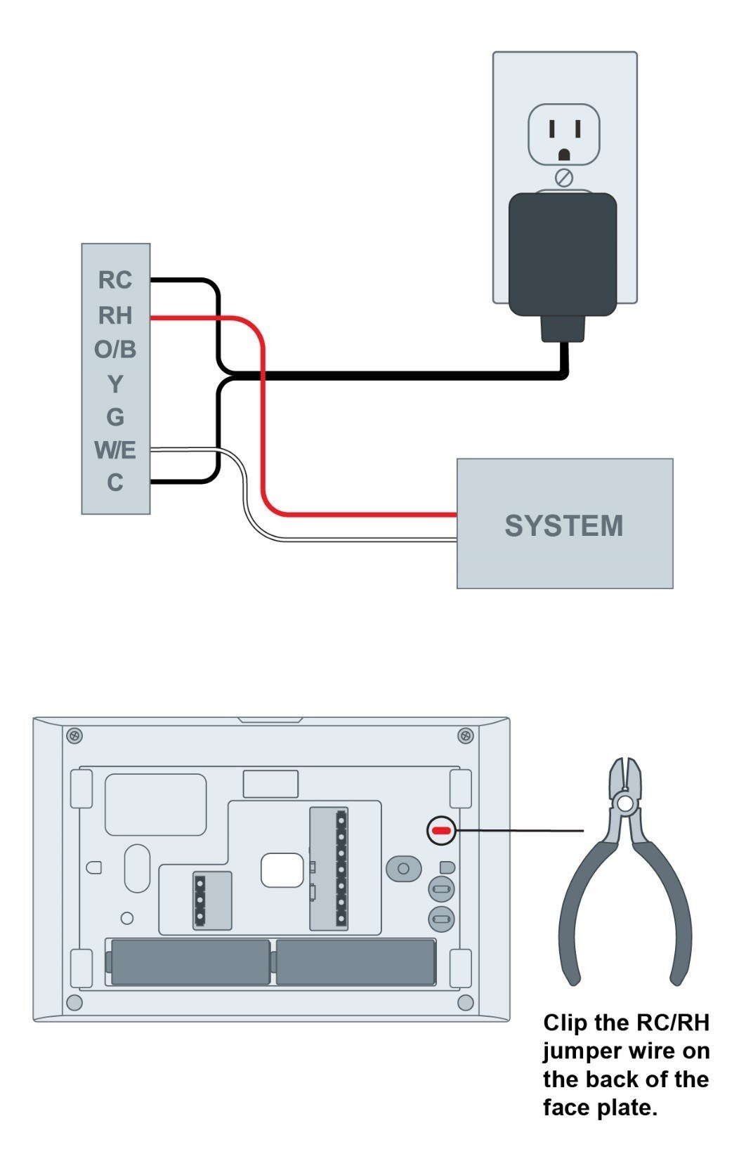 Adding A 24 Vac External Transformer: A Diy Option For Heat-Only - Nest Wiring Diagram Rc Or Rh