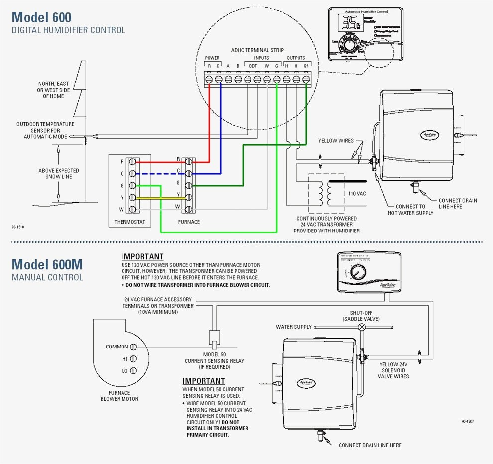 Aprilaire Humidifier Model 700 Wiring Diagram | Wiring Diagram