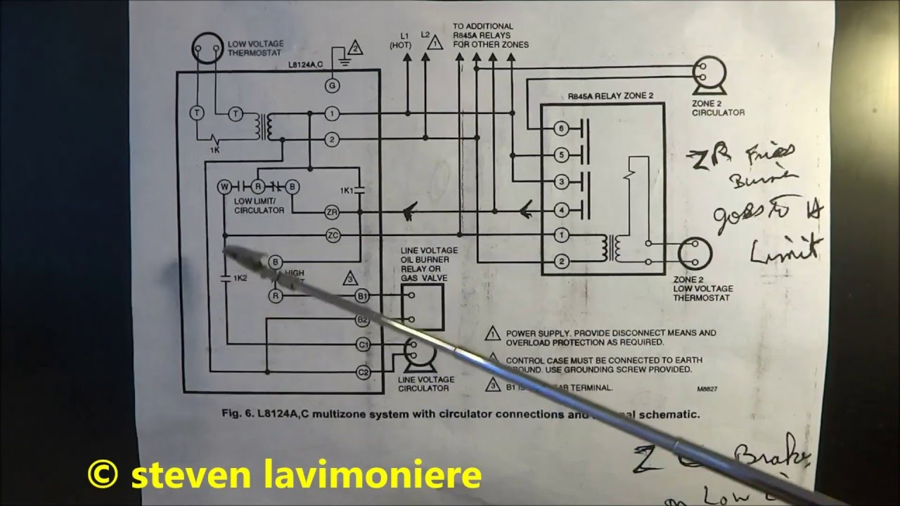 Boiler Aquastat Operating Control Wiring Explained - Youtube - Nest Wiring Diagram From 8124 Aquastat And 24V Transformer