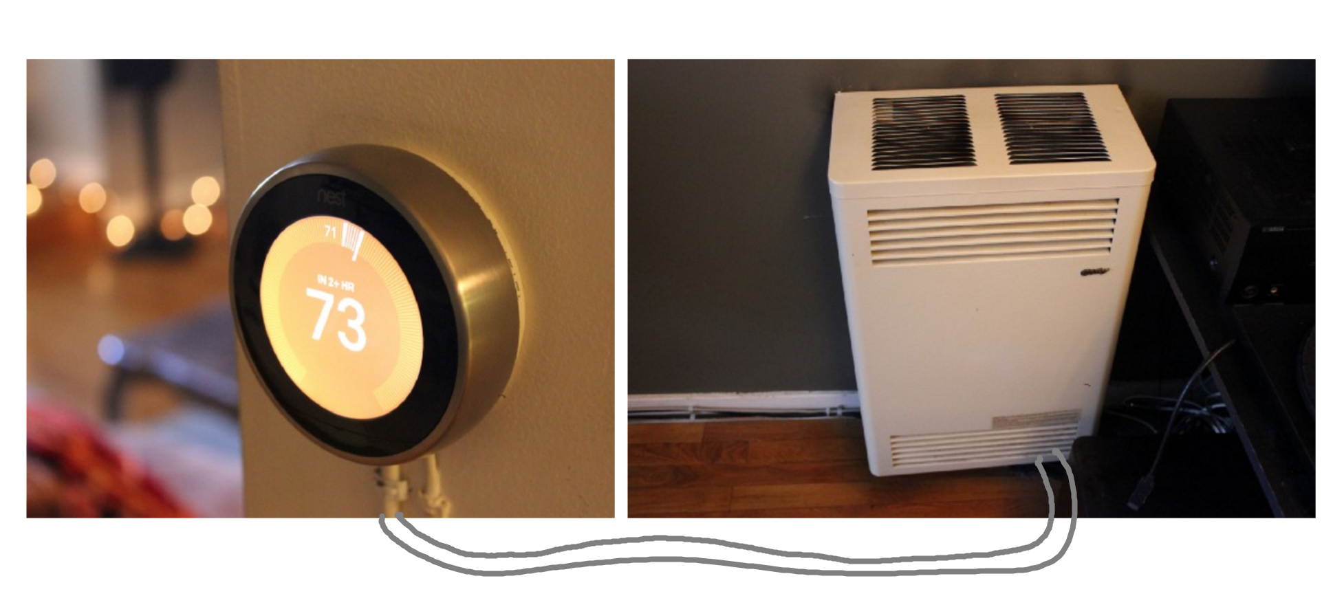 Controlling An Ancient Millivolt Heater With A Nest - Nest T3007Es Wiring Diagram With Heat Pump