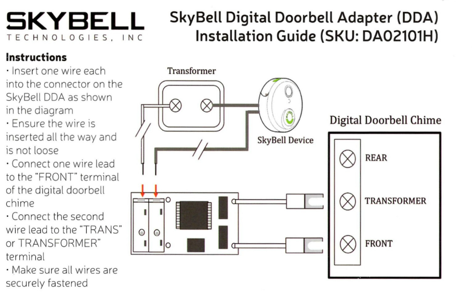 Do I Need A Digital Doorbell Adapter? How Do I Install It? – Skybell - Wiring Diagram For The Transformer For The Tranformer For A Nest Doorbell