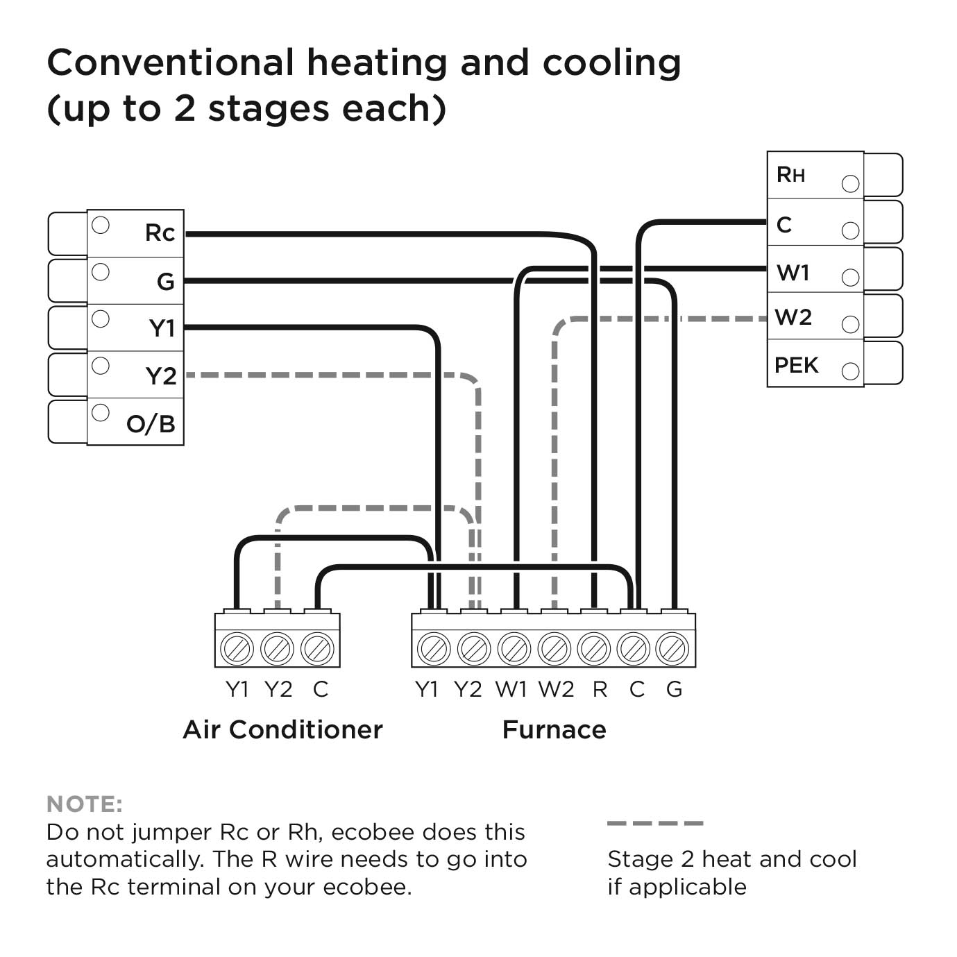 Ecobee3 Lite Wiring Diagrams – Ecobee Support - Nest Thermostat Wiring Diagram For 2 Stage Cooling 2 Stages Heat
