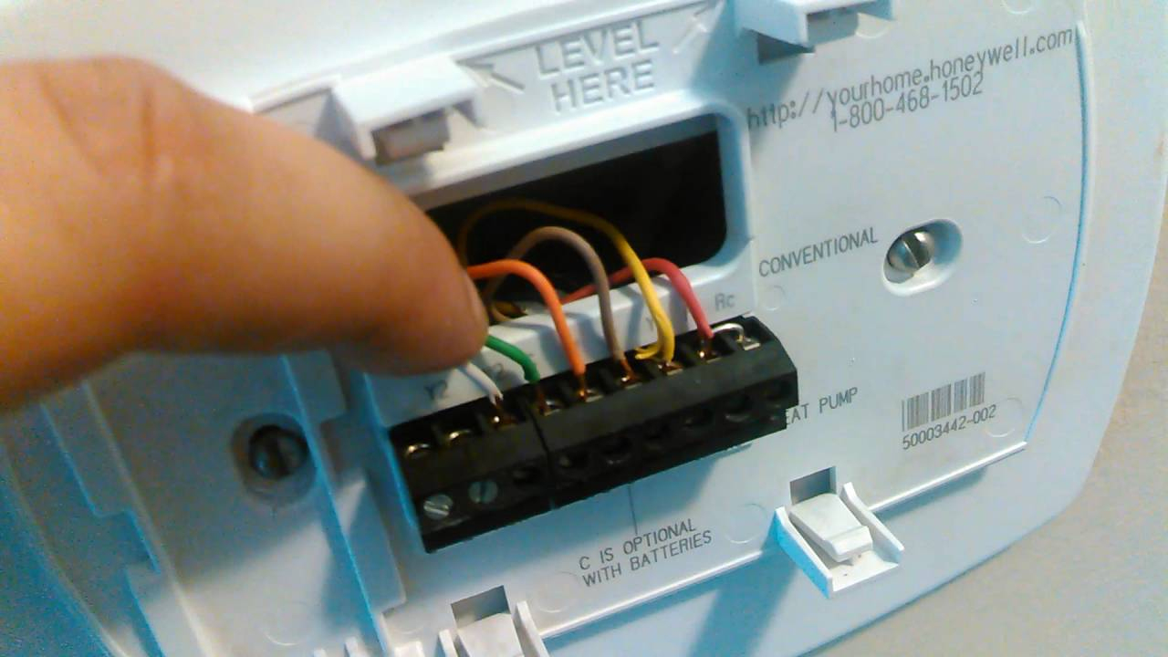 Going Over The Honeywell 5000 Pro Thermostat - Youtube - Honeywell Th5320C1002 Wiring Diagram Nest