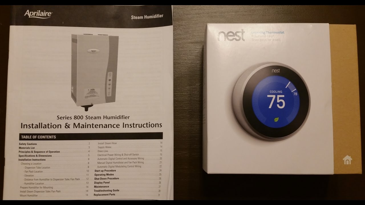 Google Nest Thermostat 3Rd Gen + Aprilaire 800 Whole House - Nest Gen 3 Humidifier Wiring Diagram