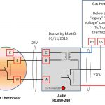 Haute Tension 220V Nest Thermostat Cablage En Europe Thru Rc840 From   Nest Wiring Diagram Gas