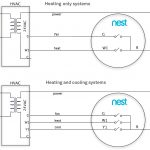 Heat And Cooling Thermostat Wiring Diagrams For Two 3 Nest | Wiring   Nest Thermostat Wiring Diagram Cooling Only