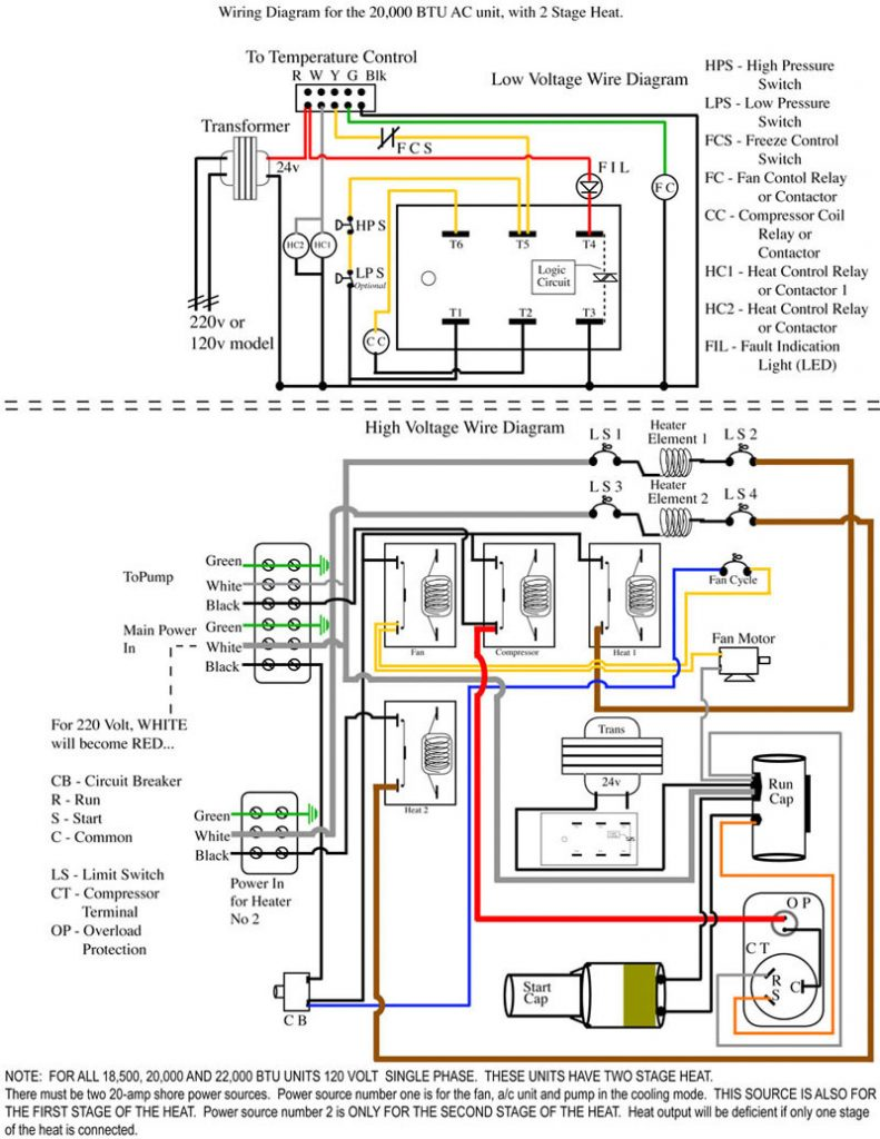 Heat Pump Wiring Diagram For Ac