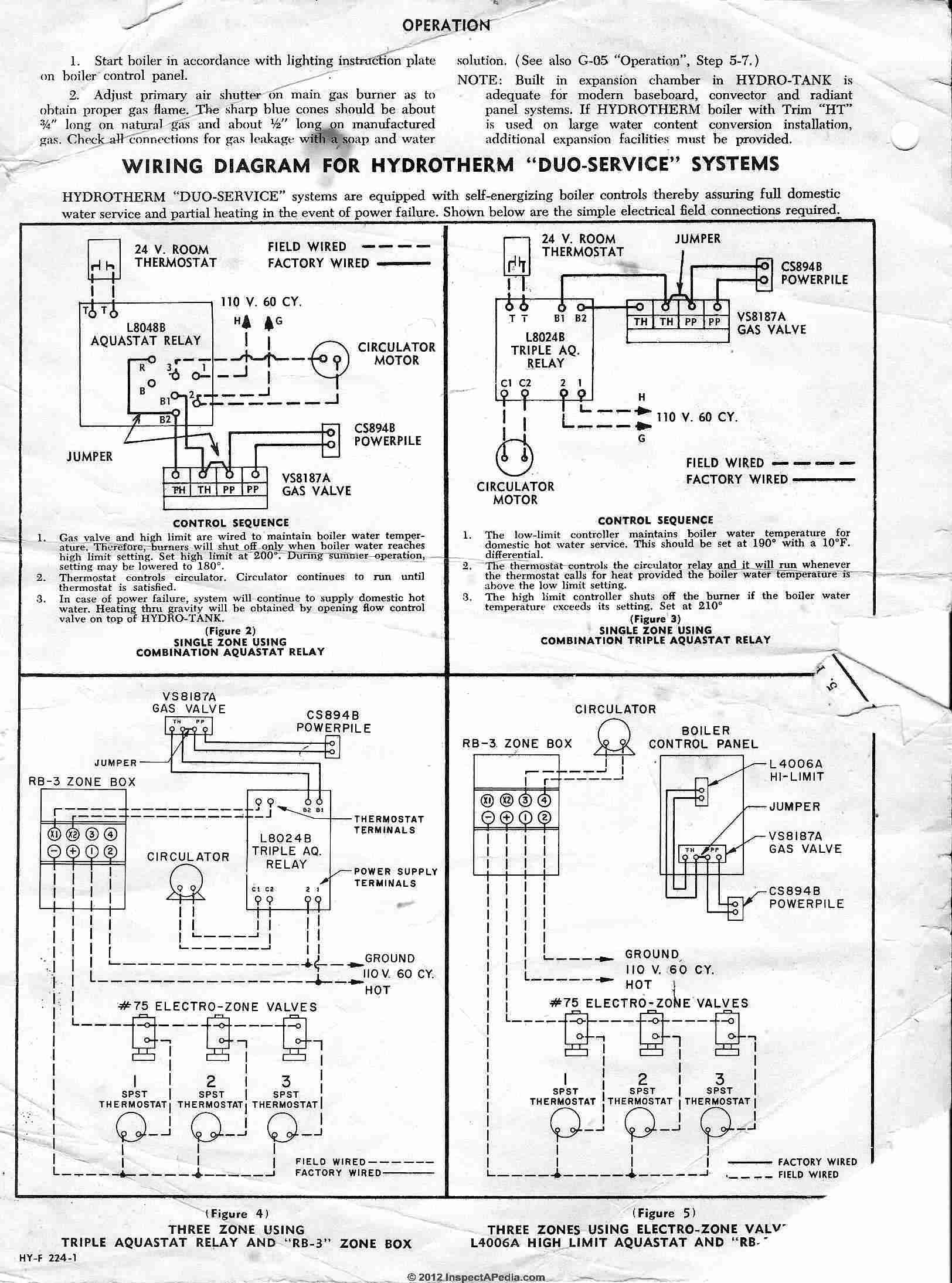Heating Boiler Aquastat Control Diagnosis, Troubleshooting, Repair - Nest Wiring Diagram From 8124 Aquastat And 24V Transformer