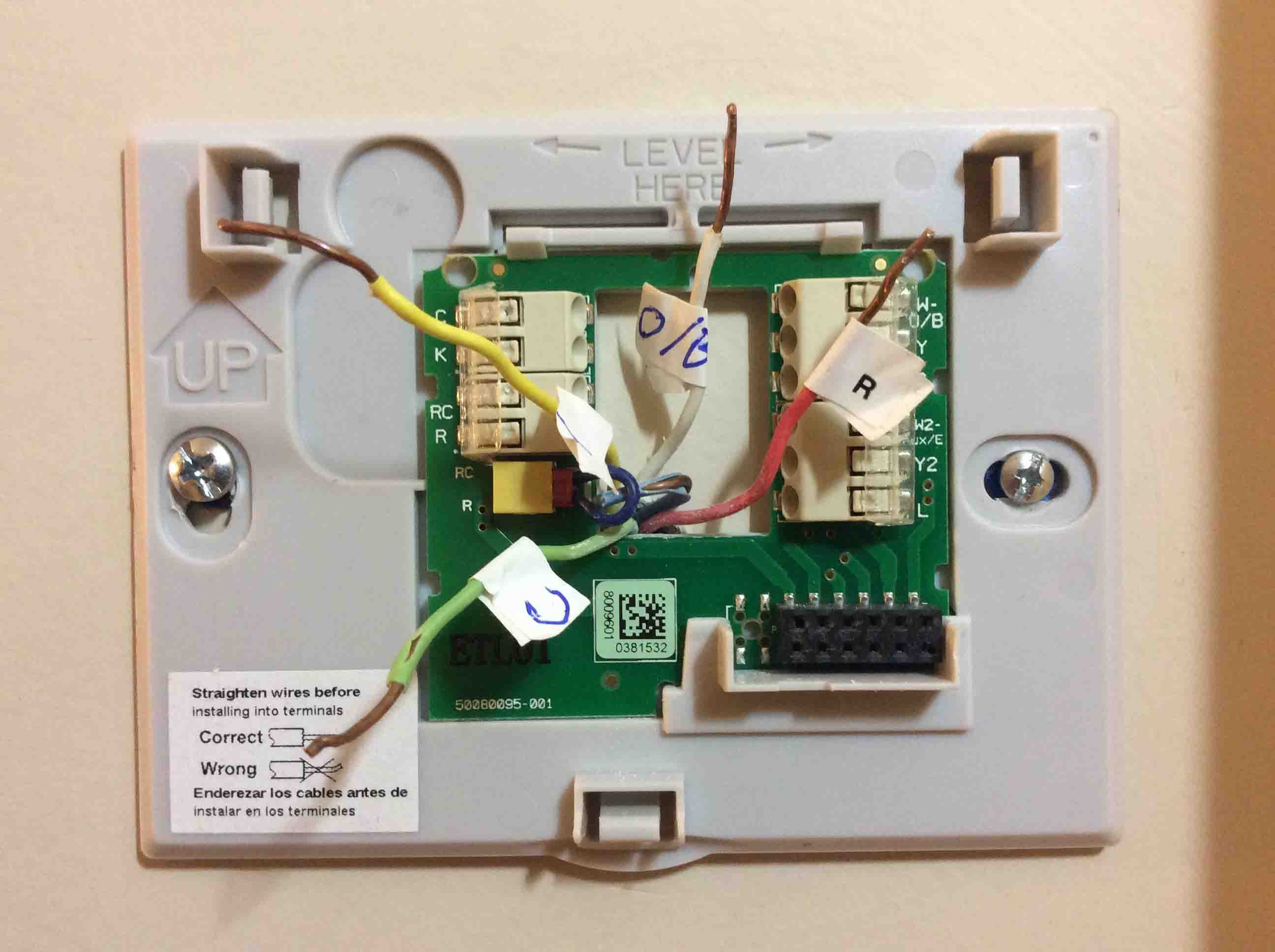 Honeywell Smart Thermostat Wiring Instructions Rth9580Wf | Tom's Tek - Round Nest Thermostat Honeywell Wiring Diagram For Heatpumps With X2 Terminal