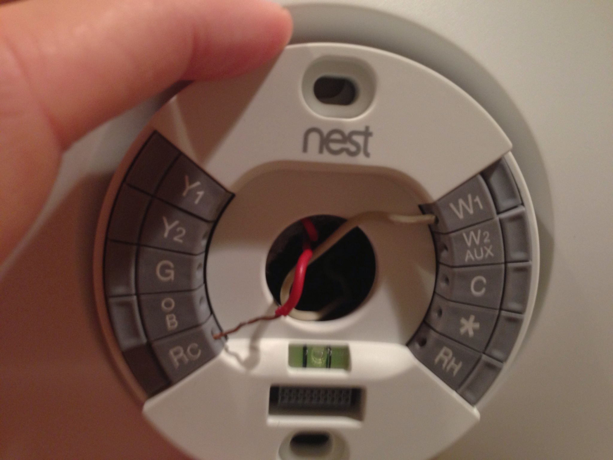 how to install a 2nd generation nest thermostat. Black Bedroom Furniture Sets. Home Design Ideas