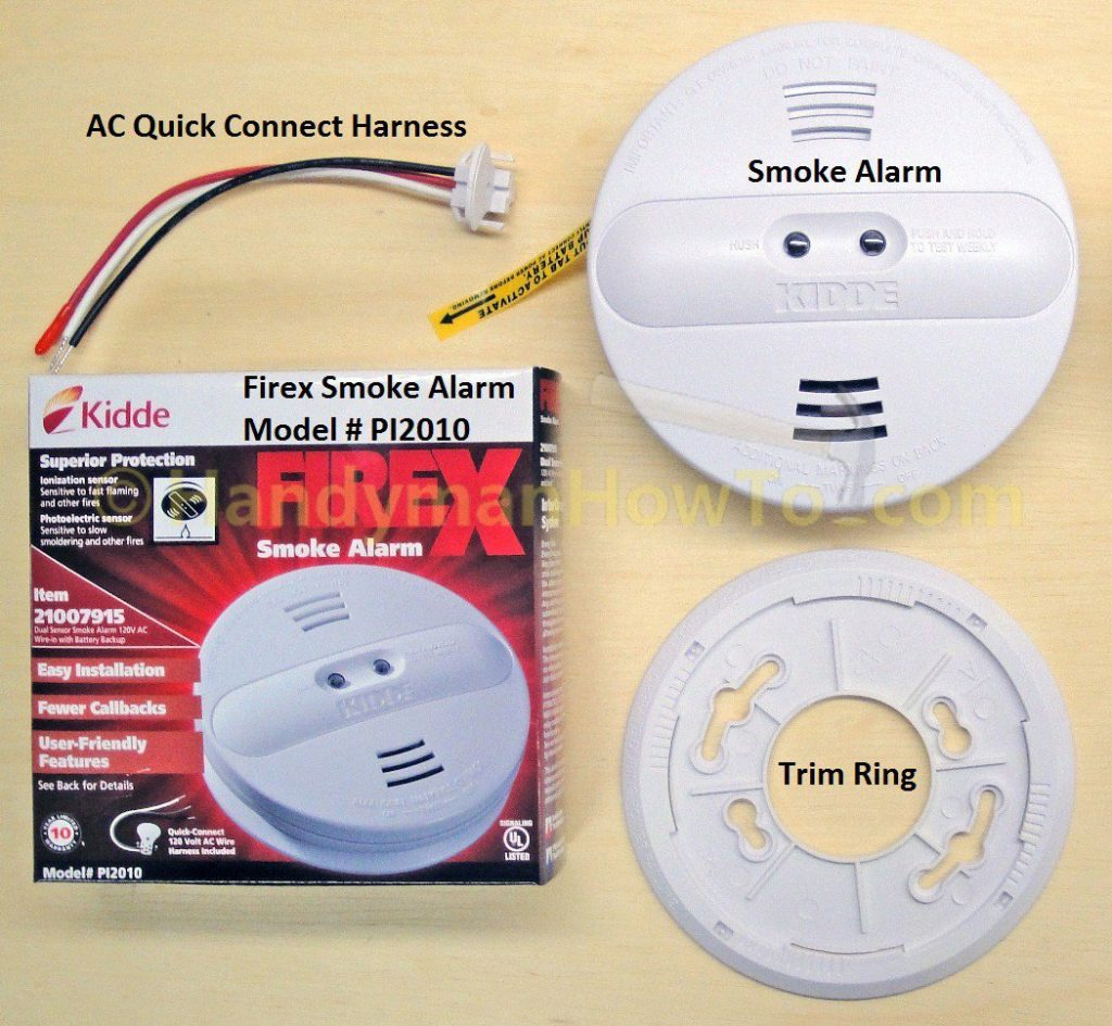 How To Install A Hardwired Smoke Alarm - Ac Power And Alarm Wiring