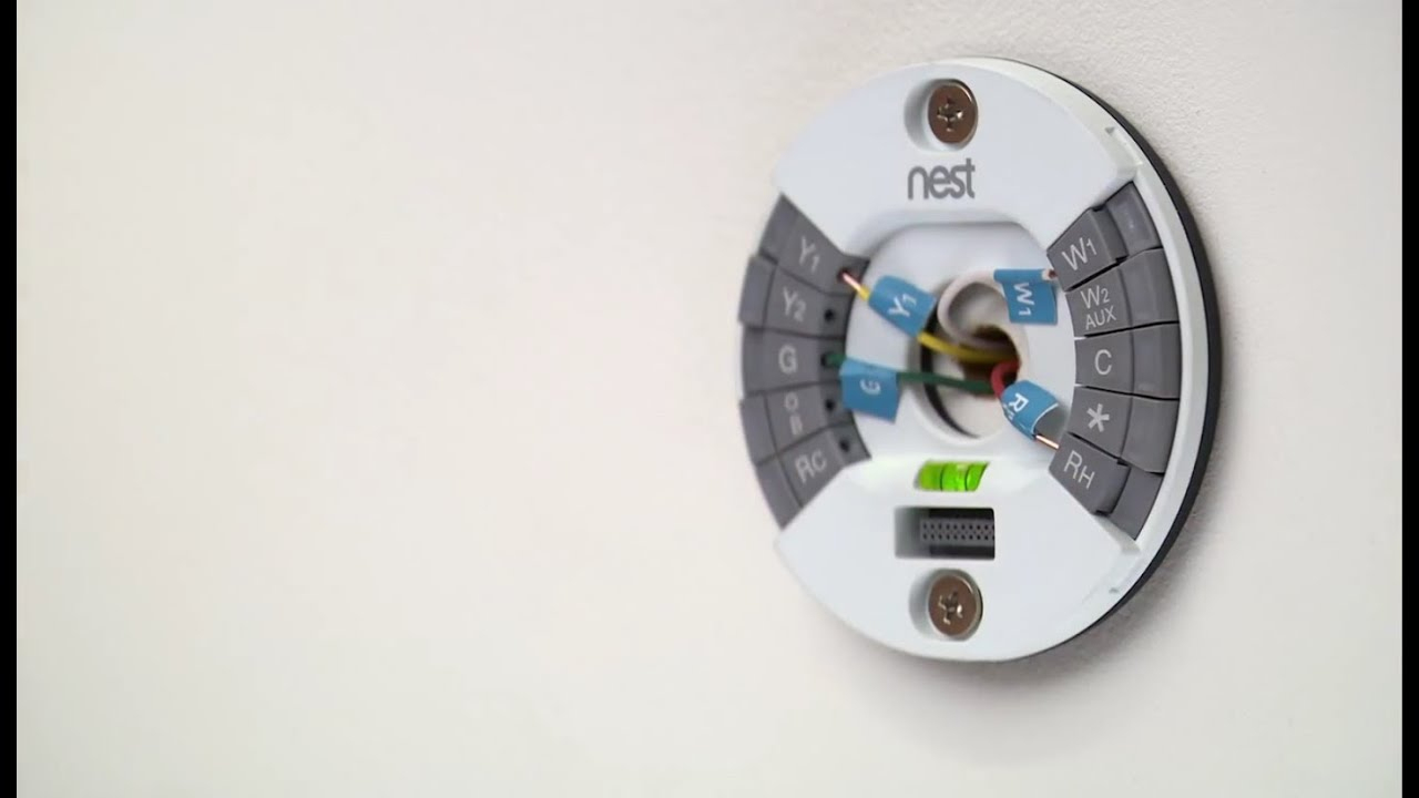 How To Install The 2Nd Gen Nest Learning Thermostat - Youtube - 4 Wire Thermostat Wiring Diagram Nest