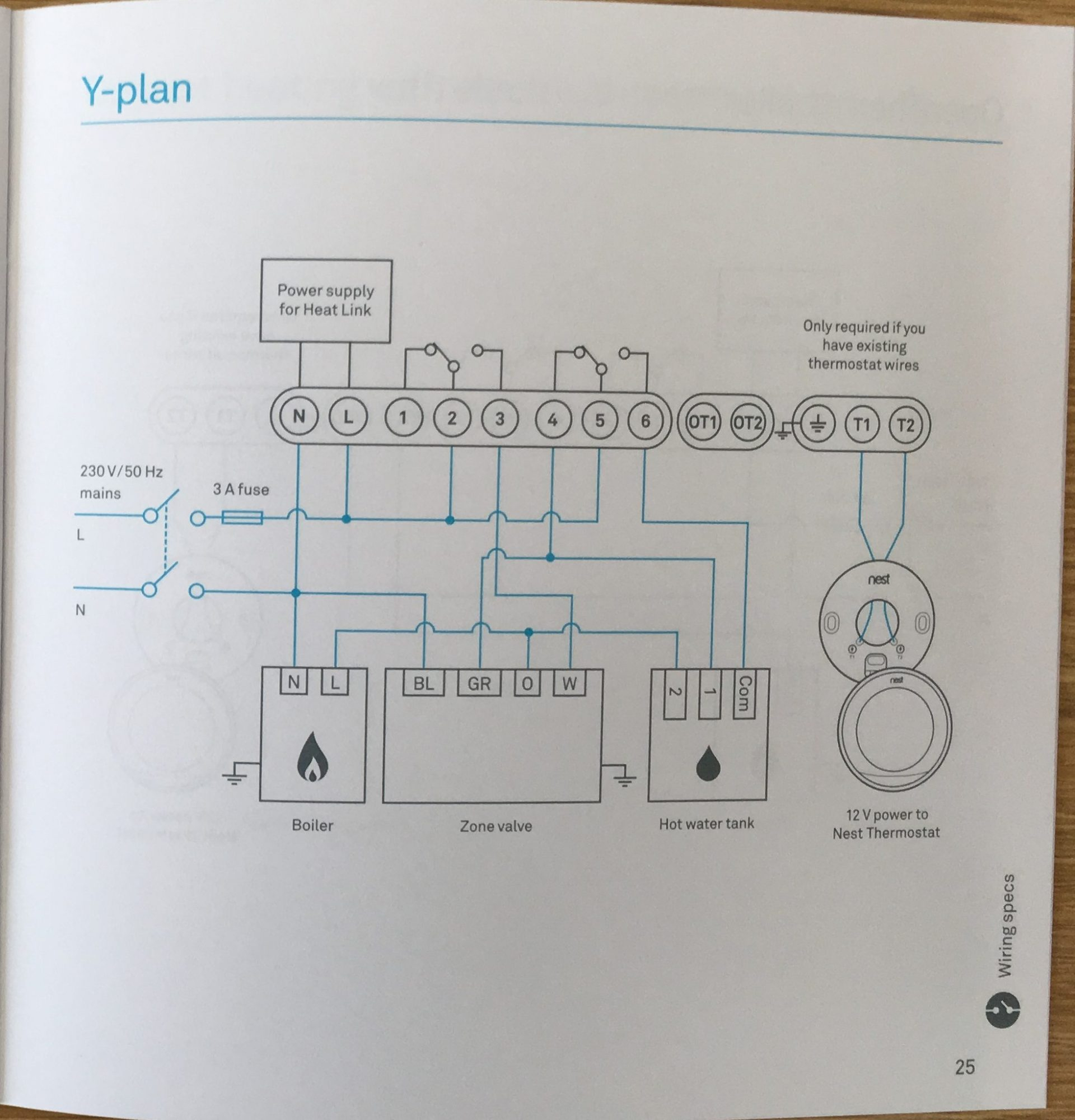 How To Install The Nest Learning Thermostat (3Rd Gen) In A Y-Plan - 5 Wire Thermostat Wiring Diagram Nest