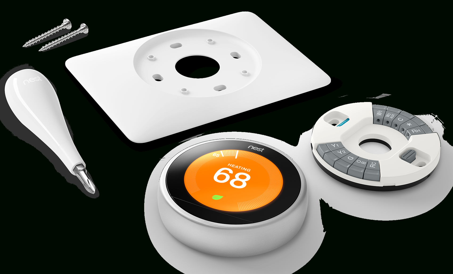 How To Install Your Nest Thermostat - Nest Wiring Diagram Red Yellow White Green