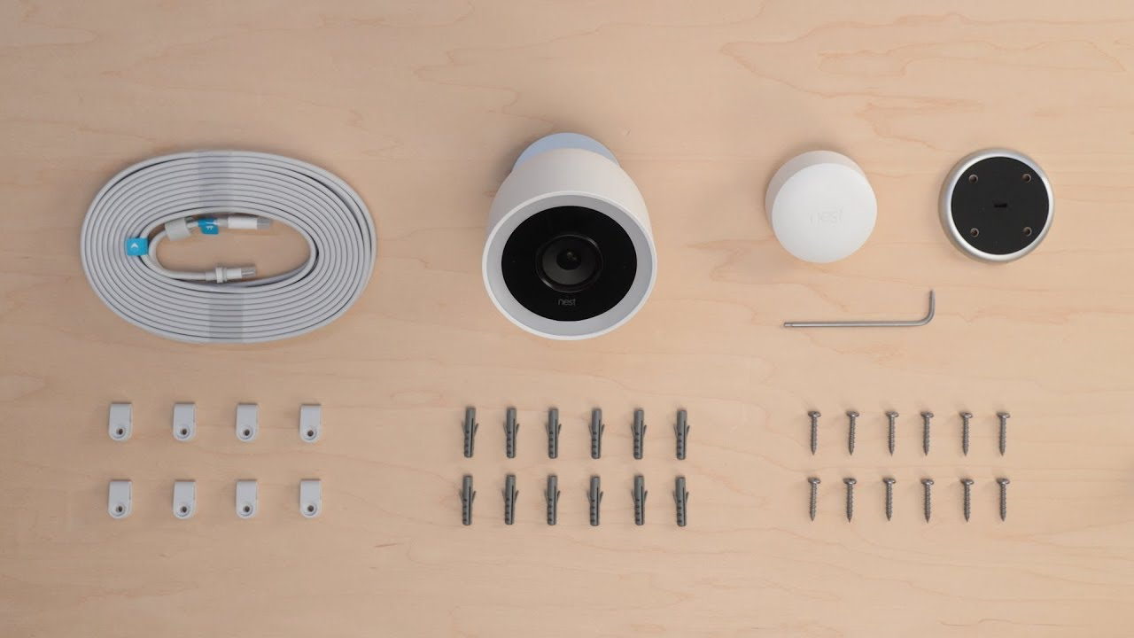 How To Set Up And Install Nest Cam Iq Outdoor - Youtube - Nest Cam Indoor Wiring Diagram