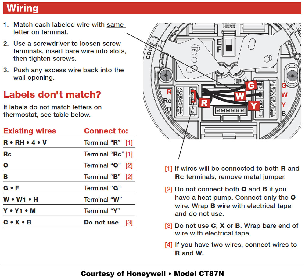 How To Wire A Honeywell Thermostat Diagram