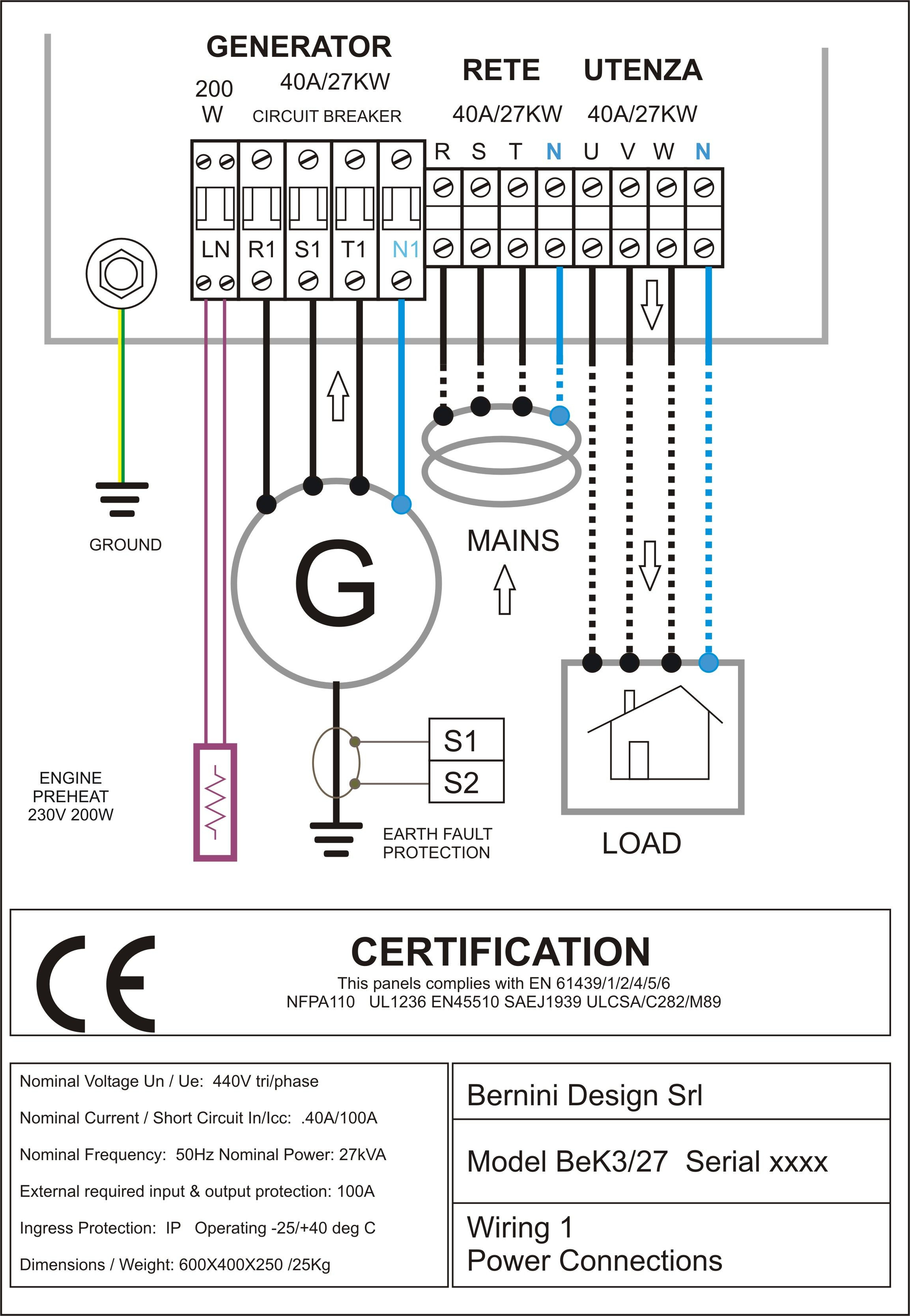 Marine Electrical Control Panel Wiring Diagram | Manual E-Books - Ewc R1 Relay Wiring Diagram For Nest