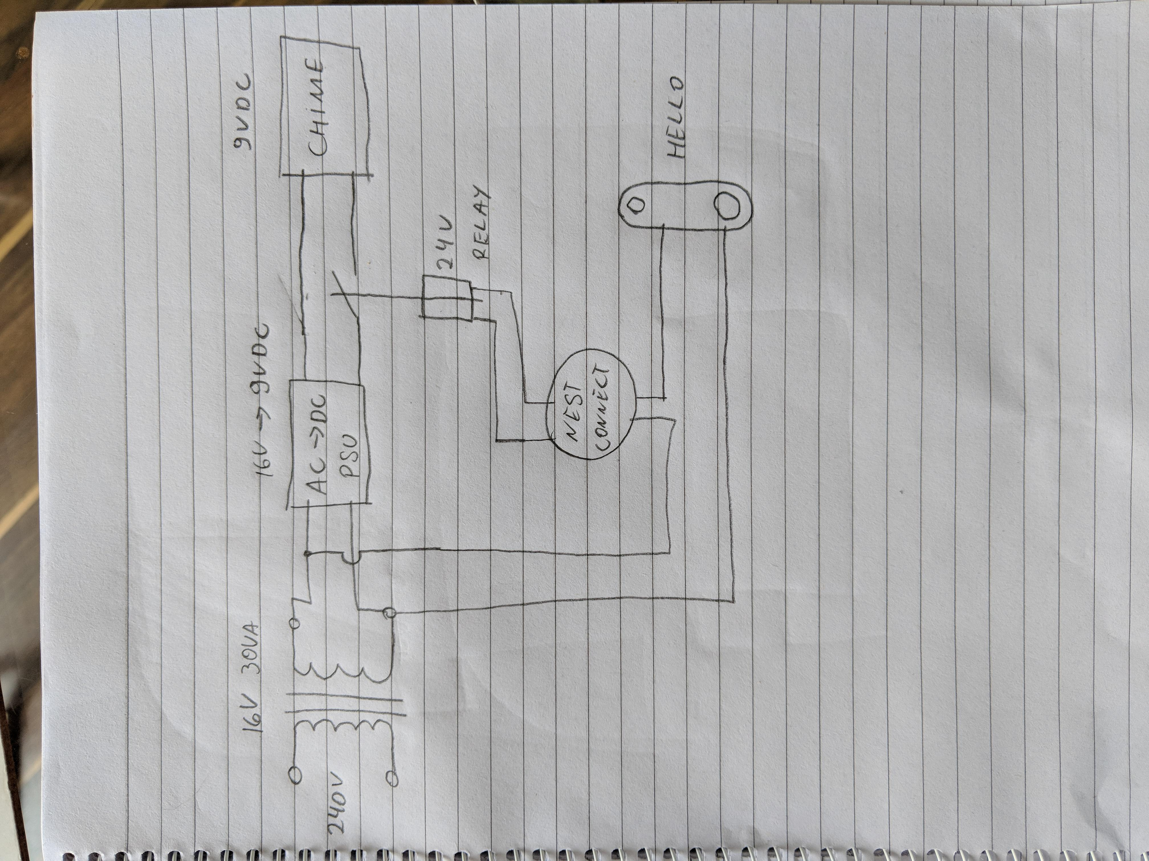 Nest Hello Wiring Diagram For Battery Operated Wired Doer Bell Uk : Nest - Nest Wiring Diagram 5 Wire
