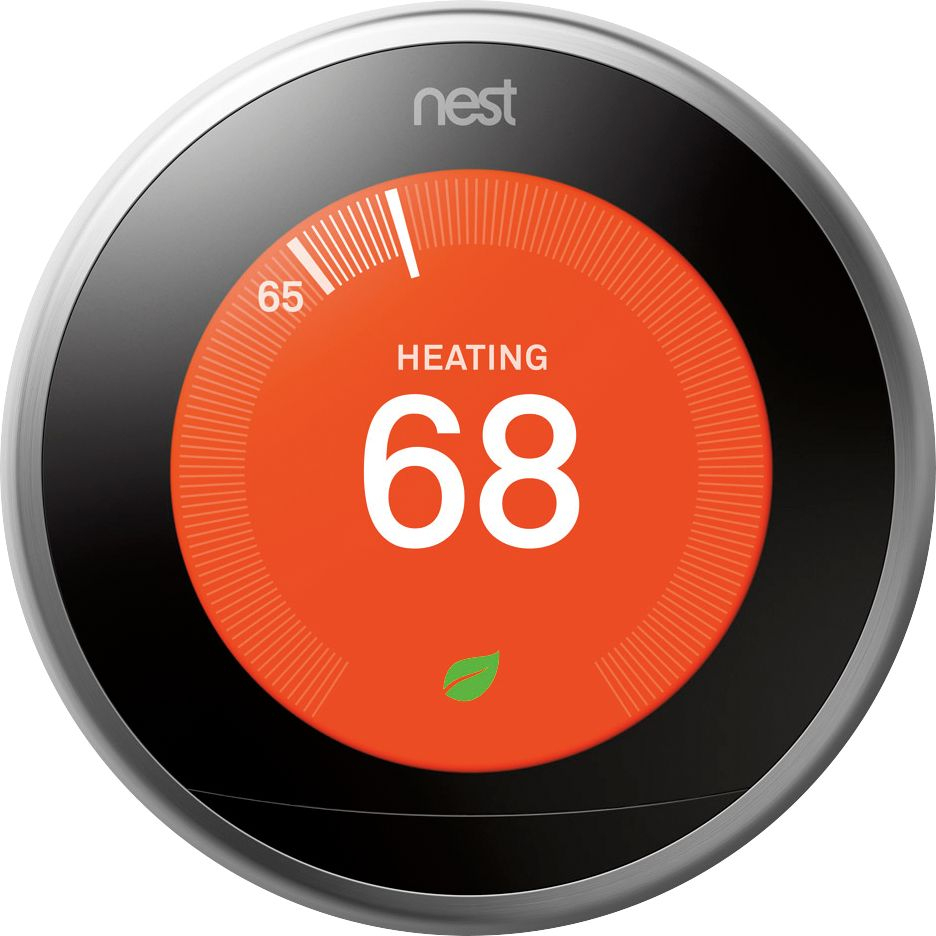 Nest Learning Thermostat - 3Rd Generation Silver T3007Es - Best Buy - Nest Wiring Diagram Us Fl