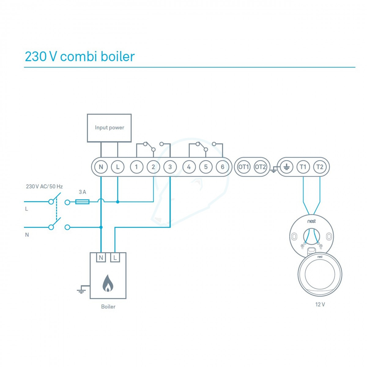 Nest Learning Thermostat, 3Rd Generation - Stainless Steel - Mr - Nest Wiring Diagram For Combi Boiler