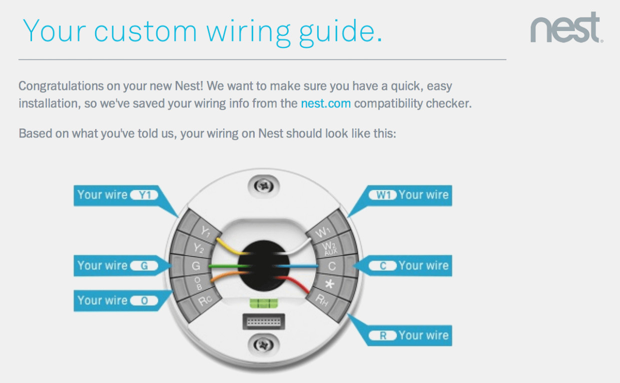 Nest Learning Thermostat Wiring Diagram | Wiring Diagram - Nest Wiring Diagram Custom
