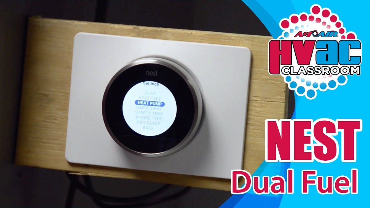 Nest Thermostat - How To Setup A Nest Thermostat For Dual Fuel - Youtube - Nest Thermostat Wiring Diagram Heat Pump And Ac