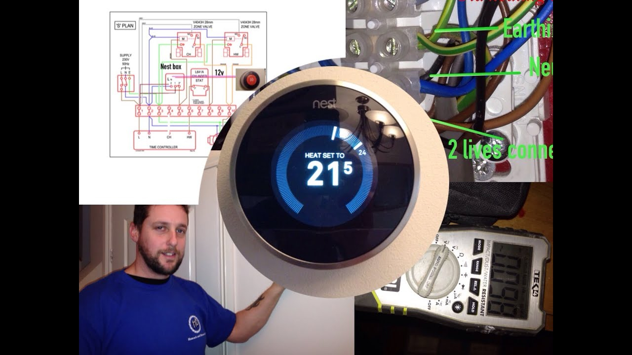 Nest Thermostat, Including Wiring And Diagrams - Youtube - Nest Thermostat S Plan Wiring Diagram