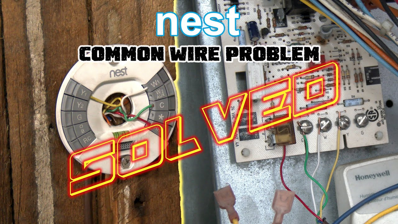 Nest Thermostat No Common Wire- Problem Solved -How To Install Nest - Rheem To Nest Wiring Diagram