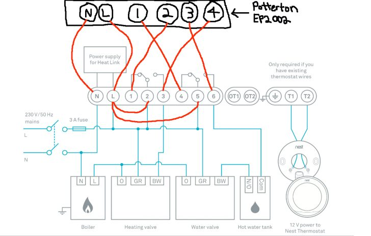 Nest Thermostat Wiring Diagram For Radiant Heat