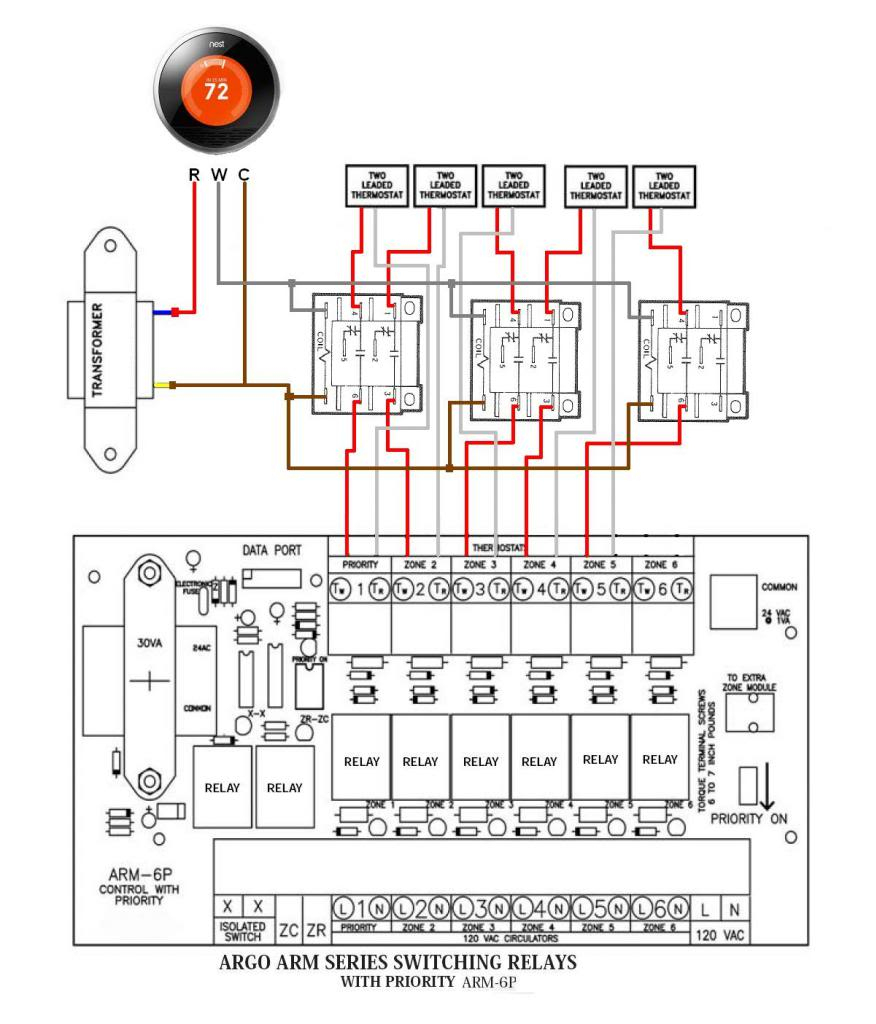 Q: Multiple Zones One Thermostat - Doityourself Community Forums - Nest 2 Zone Wiring Diagram