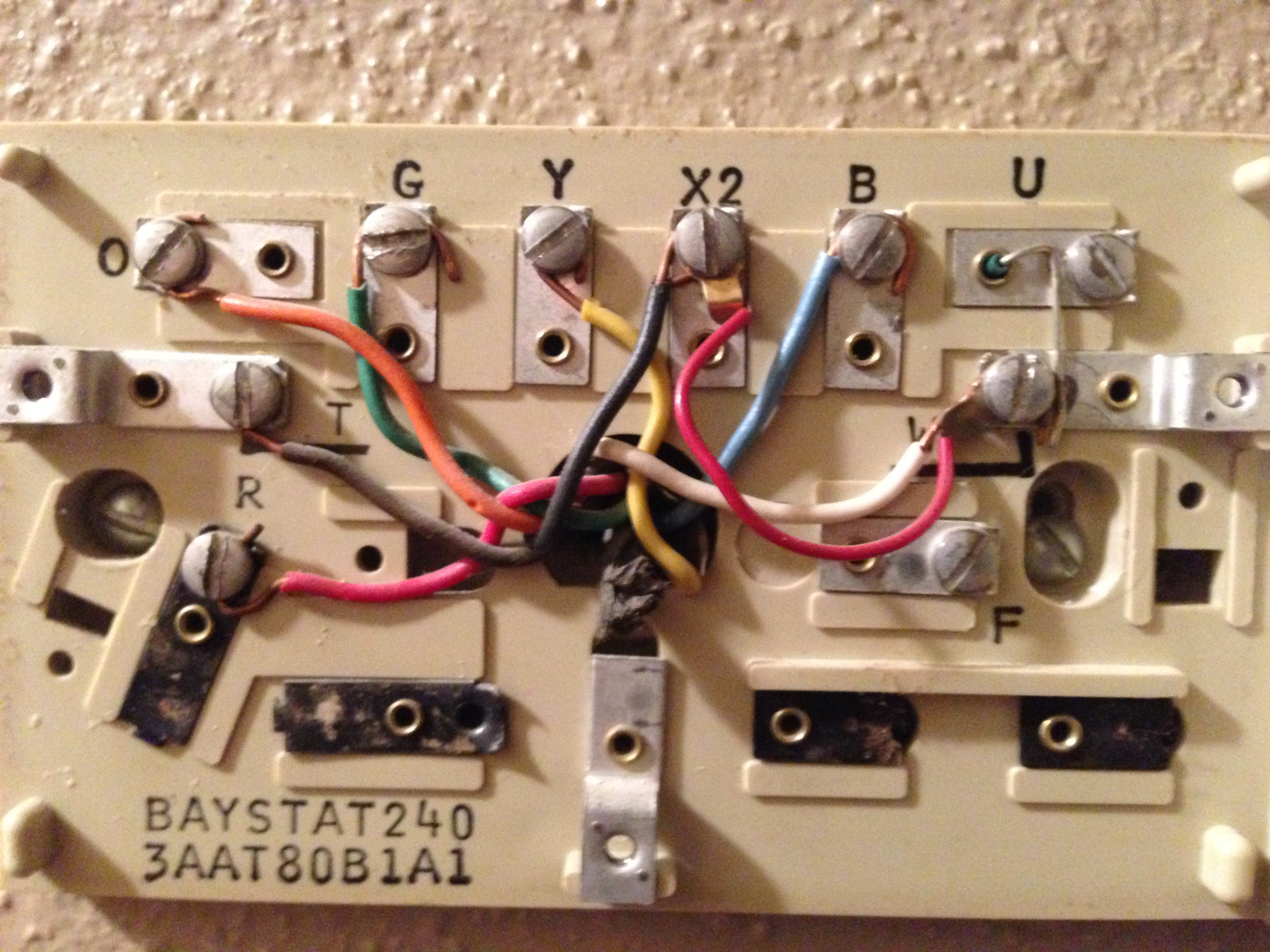 Replace The Trane Baystat 240 With Nest - Trane Baystat240 Wiring Diagram Nest