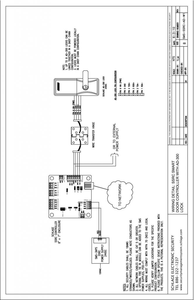schlage series 300 wiring diagram