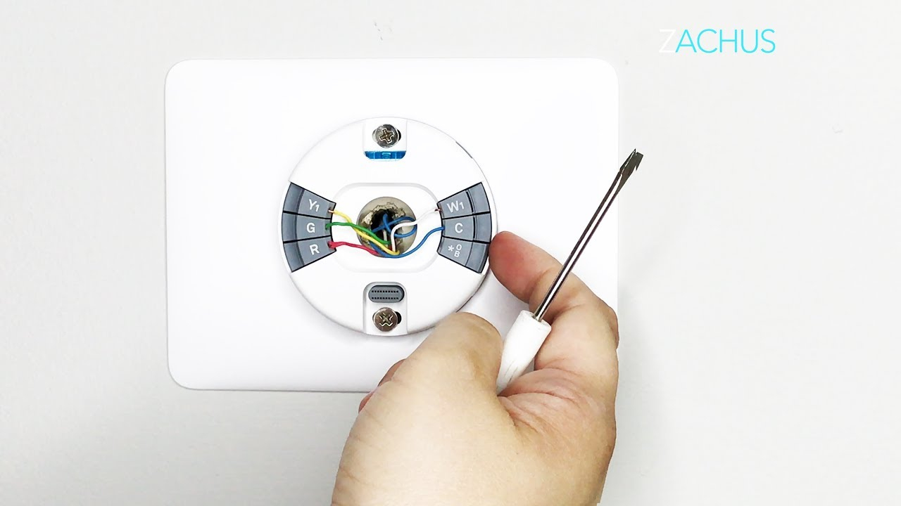 Stepstep Install Of The New Nest Thermostat E - Youtube - Nest E No Wiring Diagram