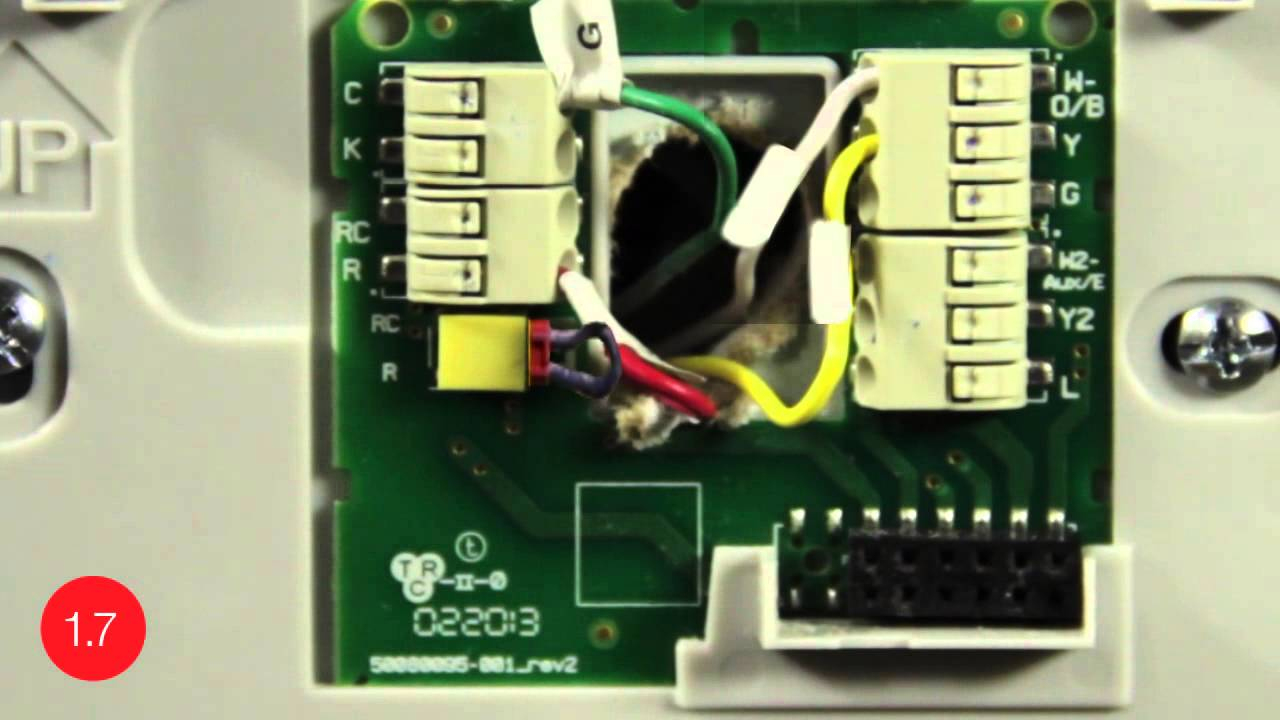 Substitute G-Wire For C-Wire -- Install The Honeywell Wi-Fi Smart - Round Nest Thermostat Honeywell Wiring Diagram