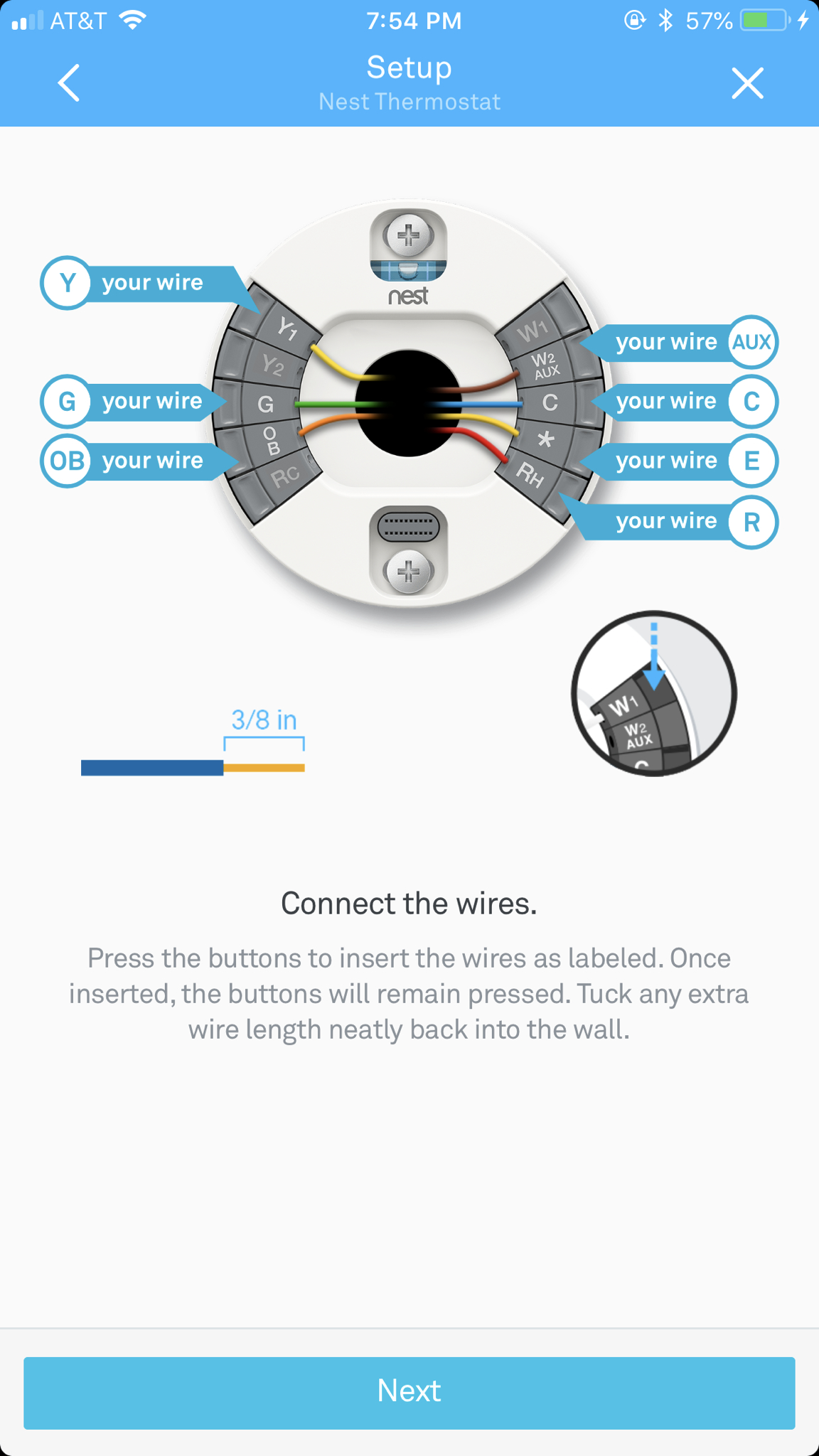 Suddenly No Ac, Just Blowing Air : Nest - Nest Thermostat Wiring Diagram 8 Wire