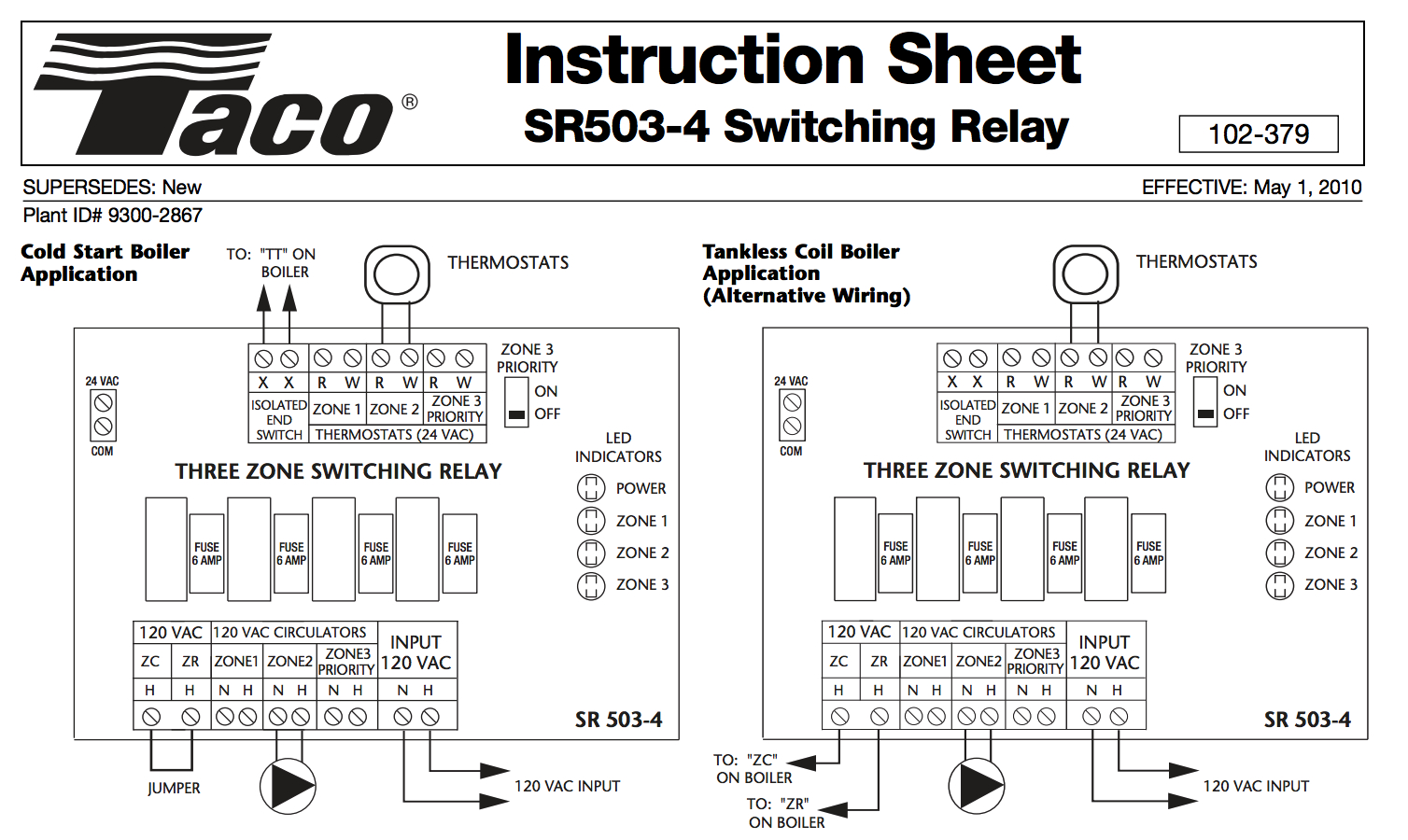 Taco 503 Switching Relay Wiring Diagram | Wiring Diagram - Taco Nest And External Transformer Wiring Diagram