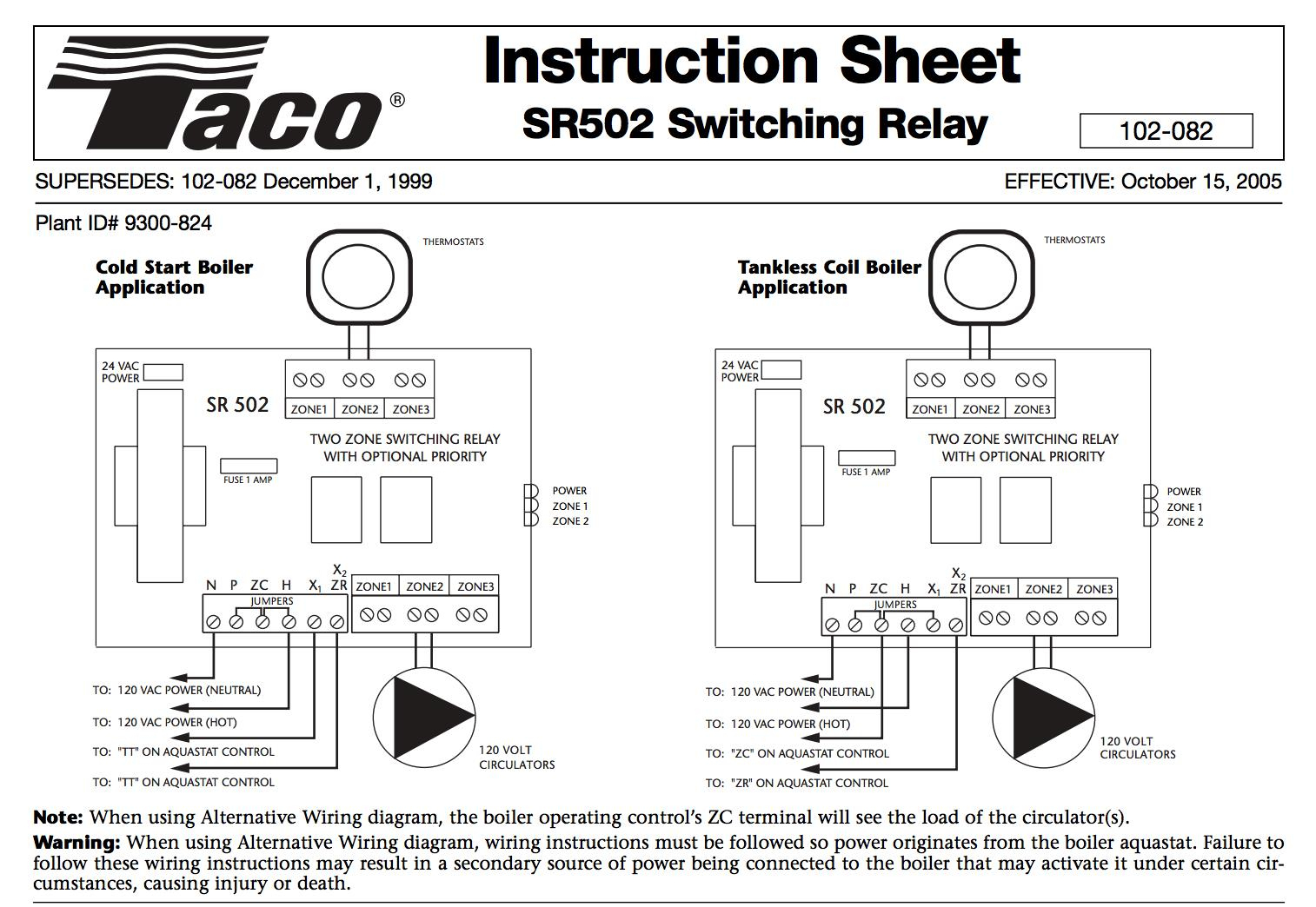 Taco Boiler Thermostat Wiring Diagram | Wiring Diagram - Wiring Diagram Sr502 Navien Boiler Nest