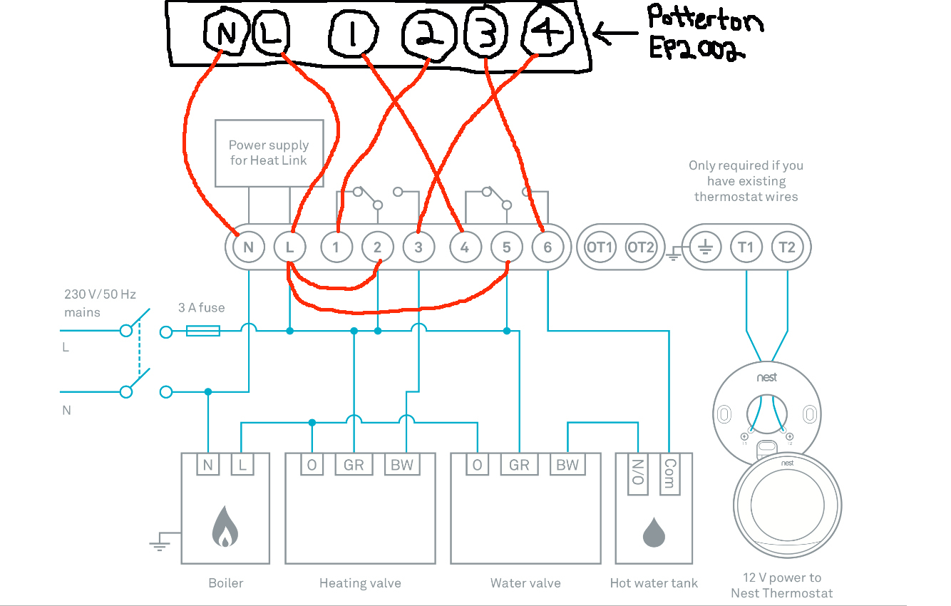 The Nest Wiring Diagram | Manual E-Books - Nest Wireless Thermostat Wiring Diagram
