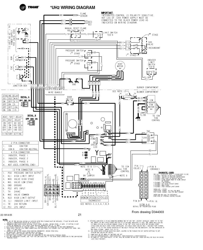 trane gas furnace wiring - wiring diagram