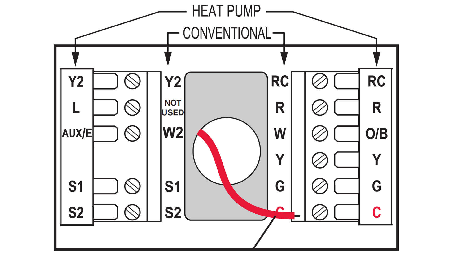 Trane Heat Pumps Thermostat Wiring | Manual E-Books - Nest Heat Pump With Electric Backup Wiring Diagram