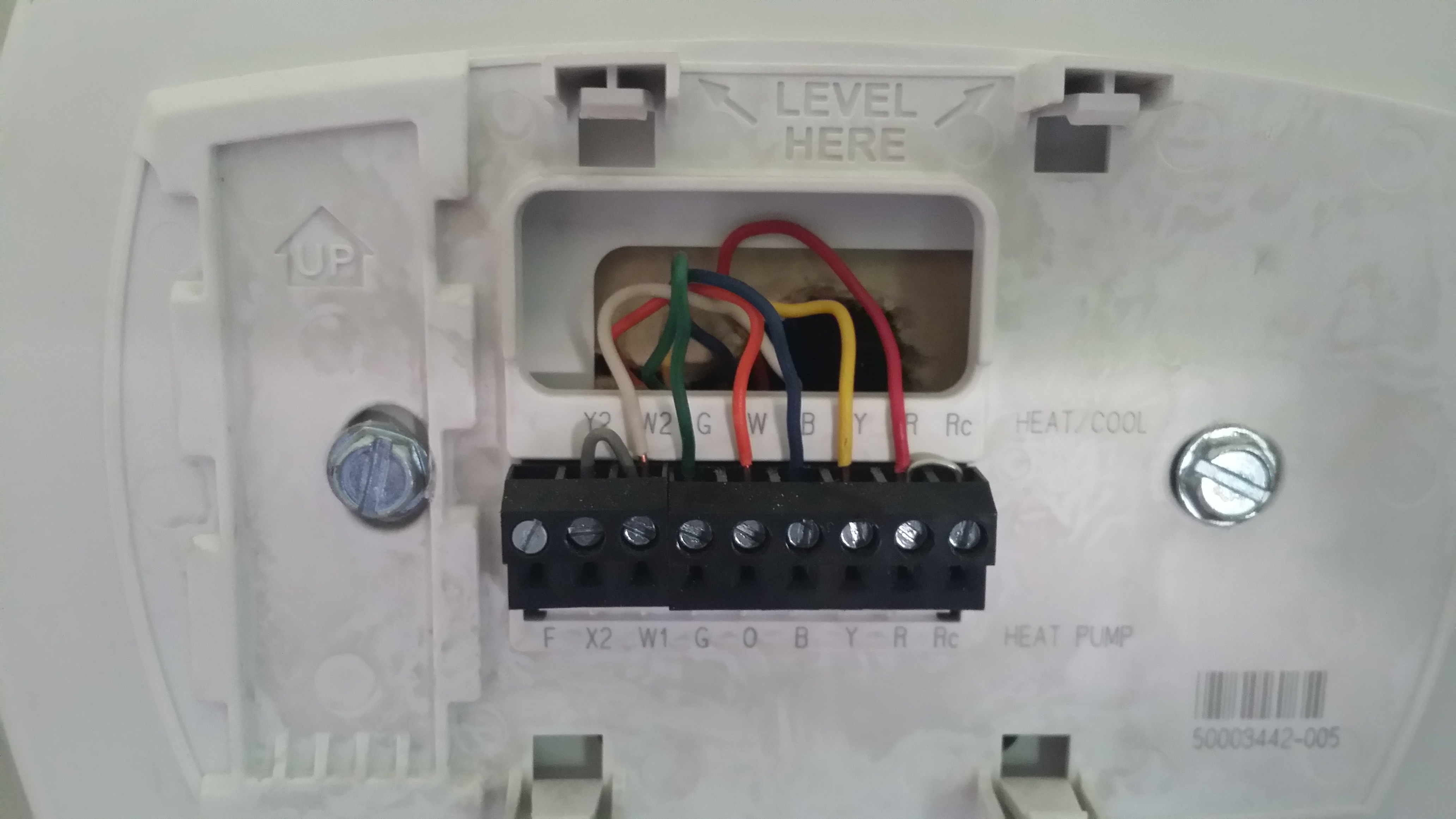 Trying To Wire Honeywell Rth9580Wf To Trane Heat Pump / Ac Unit - Round Nest Thermostat Honeywell Wiring Diagram For Heatpumps With X2 Terminal