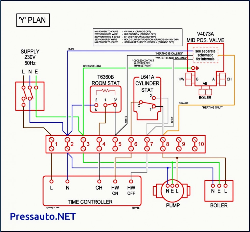 Wiring Diagram For Honeywell Motorised Valve - Data Wiring Diagram Today - Nest Y Plan Wiring Diagram