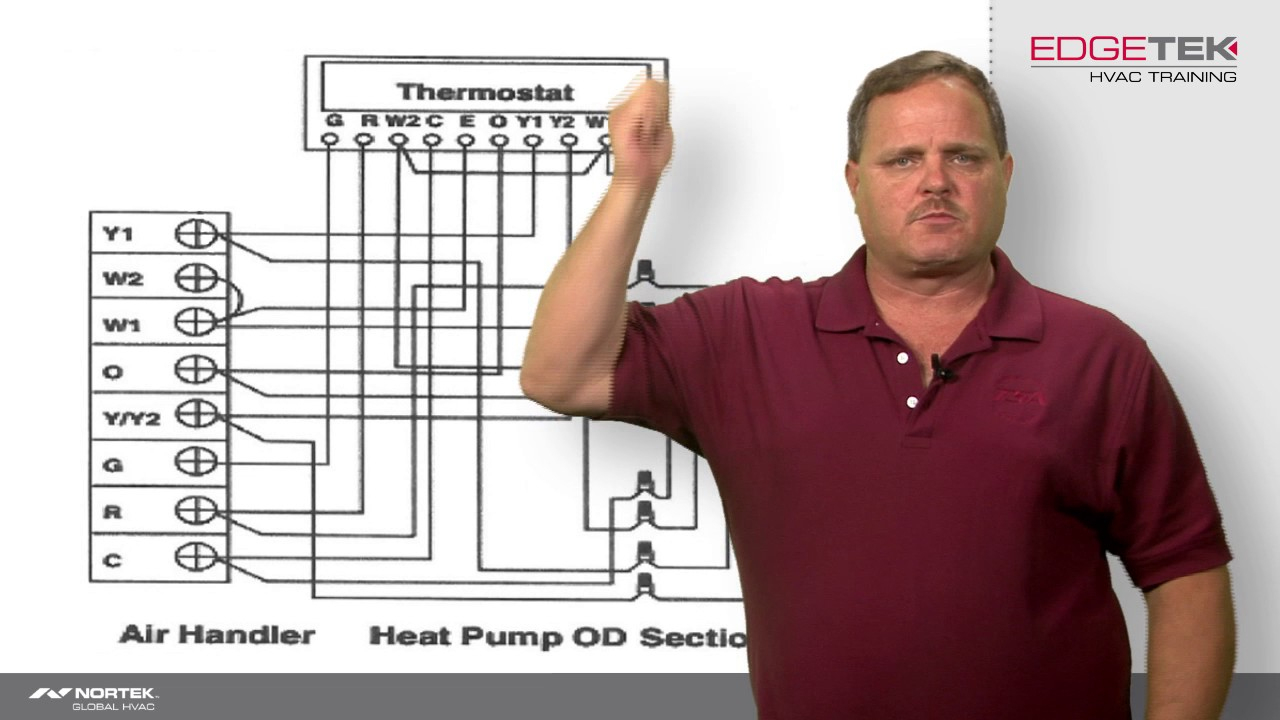 Wiring Of A Two-Stage Heat Pump - Youtube - Nest Thermostat Trane Tam7 2 Stage Wiring Diagram