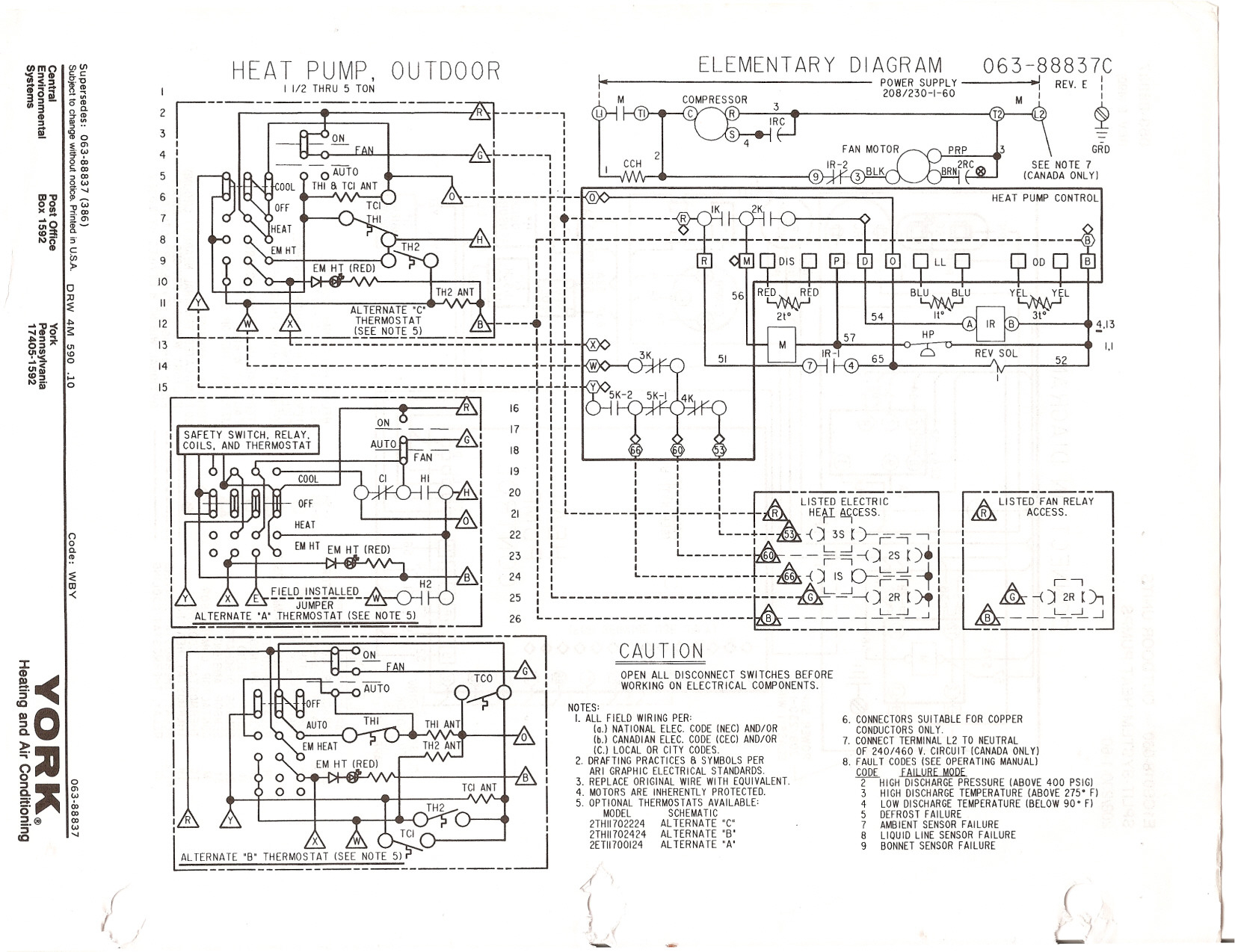York Ac Wires Diagram | Manual E-Books - Wiring Diagram For York Heat Pump To Nest Thermostat